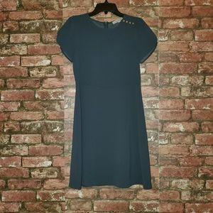 Loft steel blue dress